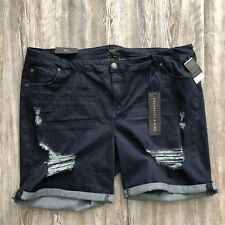 Celebrity Pink women's sz 24 shorts distressed dark denim cuffed stretch $49