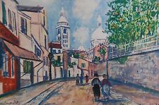 Maurice Utrillo 1931 Montmartre Sacré Coeur Lithographie Ancien Litho Spadem 5