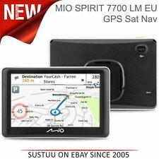 "Mio Spirit 7700 LM 5"" Car GPS Sat Nav│Lifetime Europe Maps+Safety Camera Updates"