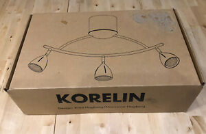 Rare IKEA KORELIN - Ceiling Spot Light Bar With 3 Lamps -12v/35w- Brand New..