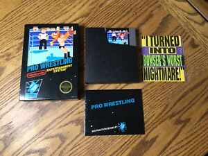 Pro Wrestling (Nintendo, NES) Complete in Box ~ Cleaned & Tested