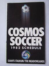 New York Cosmos 1982 Schedule NASL Giants Stadium The Meadowlands Ex/Nr Mt