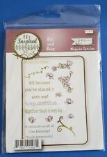 LDRS Creative Magnolia Splendor Unmounted Rubber Stamps Sentiments
