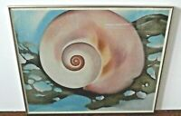 Georgia O'Keeffe 1937 Pink Shell with Seaweed Print Poster San Diego Museum Art