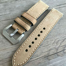 Leather strap in 24mm - Tan leather in 24/24mm compatible Panerai