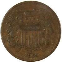 1869 2c Two Cent Piece US Coin VG Very Good