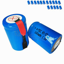 16x 1600mAh Ni-CD 4/5SC SubC Sub C 1.2V Rechargeable Battery with Tab univerisal