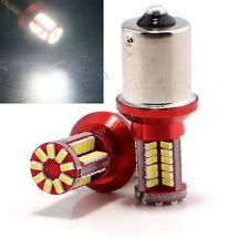 10Pcs 12V 24V P21W 1141 1156 BA15S 3014 57SMD Canbus Error Free White LED Bulb