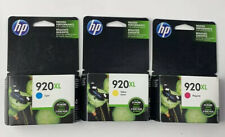 NEW Genuine HP 920XL 920 Color Tri-color CMY Ink Cartridges 3 Lot Pack  10/2018