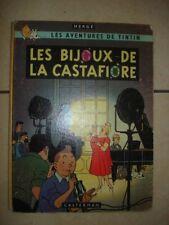 TINTIN LES BIJOUX DE LA CASTAFIORE HERGE 1963 EO 4EME PLAT B35 COTE 130€