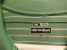 Bolle Men's S/S Green Striped Golf Polo Size L