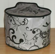 Black Edged Swirls Vinyl Dust Cover For TEFAL ACTIFRY FAMILY