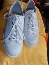 BNWOB Mens Et Al Design Trainers White Leather Size UK 10 EU 44
