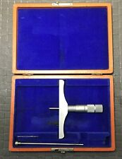 Brown Amp Sharp 608 Depth Micrometer With Case Made In Usa
