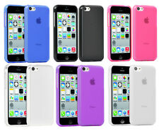 Hybird TPU Silicone Gel Skin Case Cover For Apple iPhone 5C + Screen Protector