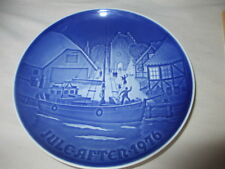 "Jule After 1976 ""Christmas Welcome"" Collector Plate Denmark B&G Bing & Grondahl"