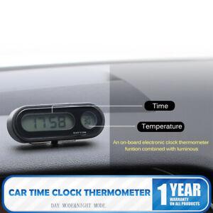 Car Electronic Clock Luminous Thermometer LED Digital Display Dashboard Clock UK