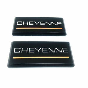 Fit 88-98 Chevrolet Cheyenne 2pc Roof Pillar Cab Emblem Badge Nameplate Side New