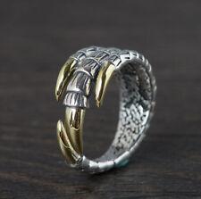 I05 Herren Ring Adlerklaue Adler Sterling Silber 925 größenverstellbar