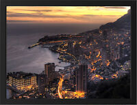MONACO EVENING NEW A3 FRAMED PHOTOGRAPHIC PRINT POSTER