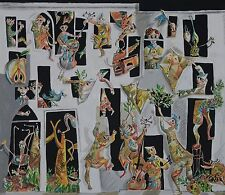 """Yosl Bergner """"circus""""  hand signed lithograph This lithograph is limited edition"""