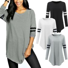 ZANZEA Women Long Sleeve Baseball Shirt Basic T-shirt Tee Top Plus Size Blouse
