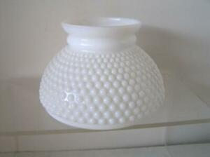 "VINTAGE BEAUTIFUL MILK GLASS HOBNAIL Small size 6"""