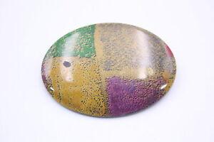 Vintage Rhodoid Plastic LEA STEIN BROOCH Unsigned w Cellulose Acetate, Colourful