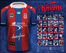 BRAND NEW NEWCASTLE KNIGHTS ANDREW JOHNS SIGNED JERSEY GREATEST 25 PLAYERS PRINT