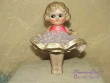 ANTIQUE JAPAN BISQUE FROZEN CHARLOTTE GOOGLY EYES JOINTED ARMS MINIATURE DOLL