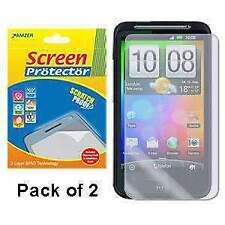 AMZER Super Clear Screen Guard Protector Pack of 2 for HTC Desire HD