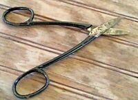 "Vintage Dixon Black Handled Scissors 6 3/4"" RARE Germany"