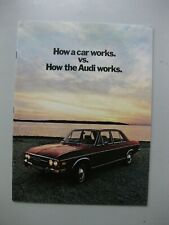 Audi 100 90 Super prestige brochure Prospekt English text 24 pages 1971