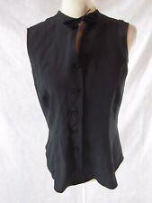 Emporio Armani Black Silk Top Est Size 44