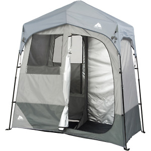 NEW 2-Room Camping Instant Shower/Utility Shelter Quick, Outdoor Privacy Tent