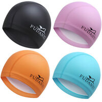 Brand New Unisex Adult Swimming Caps Waterproof Polyurethane Solid Quick Drying