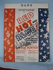 Ours Sheet Music Vintage 1936 Red Hot And Blue Cole Porter Bob Hope E Merman (O)