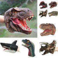 Realistic Shark Dinosaur Hand Puppet Plastic Mouth Deformation Christmas Gift