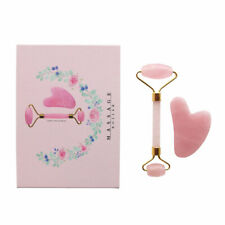 Rose Jade Quartz Roller And Gua Sha Set For Slimming,Firming,Remove Wrinkles A36