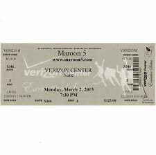 Maroon 5 & Magic! & Rozzi Crane Big Concert Ticket Full Stub 2015 Washington Dc