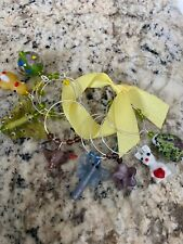 EASTER BUNNY CHICK BIRD BUTTERFLY ETC,   Wine Glass Charm Rings   Set Of 8