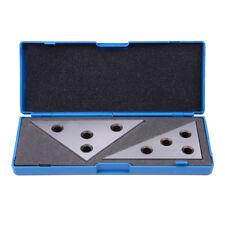 2 Pc Solid Precision Angle Plates Blocks Set 30-60-90 Degree and 45-45-90 Degree