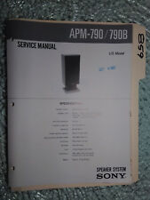 Sony apm-790 b service manual original repair book stereo speakers 2 pages