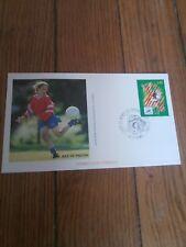 france timbre sport foot 98 Enveloppe  coupe du monde de football 1998 St Denis