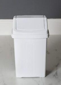 Swing Plastic Bin 8L Wham Rubbish Home Kitchen Office Waste Bin 8Litre