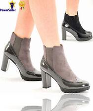 Block Heel Suede Formal Heels for Women