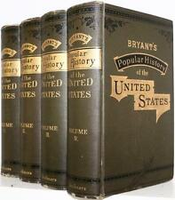 1881 BRYANT'S POPULAR HISTORY OF THE UNITED STATES INDIANS REVOLUTION CIVIL WAR