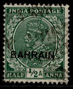 BAHRAIN GV SG15, ½a green, FINE USED.