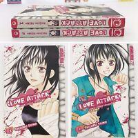 Love Attack Junai Tokko Taicho! Books 1 & 2 Shizuru Seino Tokyopop