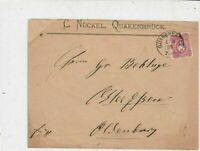Germany 1885 Stamps Cover to Essen Oldenburg Quakenbruck Cancel Ref 23282